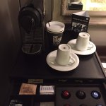 in room Nespresso set up. Brown sugar is a nice touch
