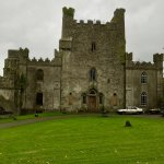 Front view of the castle. It was a rainy day and was perfect for visiting a haunted castle!