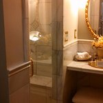 Hoag room private bath with marble shower