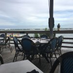 View from our table, outdoor seating
