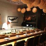 Sushi chefs, sushi bar