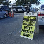 Complimentary Valet Parking at 15th Stree Fisheries, Ft Lauderdale