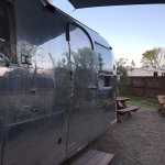 airstream with outside eating area