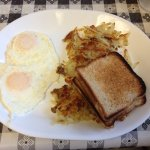 2 eggs over easy with Gluten free toast!