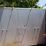 Outdoor showers to go with the bath