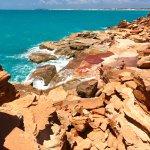 Red rocks and beautiful ocean