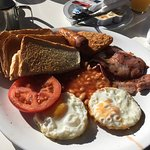 Fantastic English breakfast, tea/coffee and a fruit juice for around €5 each.