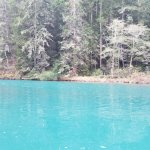 the light in this area made the water turquoise