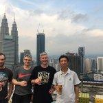 Lyndon, Greg, Rob & Chong at Helipad