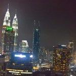 Twin Towers illuminated