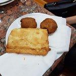 Croquette mozarella + beignet à la crème