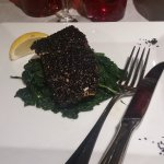 La Calcinia - Salmon with toasted sesame seeds
