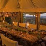 Interior dining room at Hemingways Ol Seki