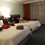 Spacious room with two double beds