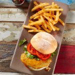 Chicken Breast Burger with Regular PERi-PERi Chips