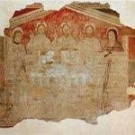 Chiesetta di San Rocco, Cascina Favaglie. Particolare raro affresco antica Trinità