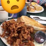 I ordered the eggs, bacon, toast and hash-browns. The jelly is amazing.