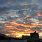 sunset view from rooftop terrasse