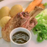 Our Corfoit Chef's Speciality Dish, Lamb Kleftiko with a lamb and mint sauce
