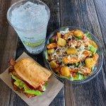 Pick Two: featuring a half BLT + half Buffalo Chicken Sandwich.