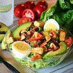 Half Avo-Cobb salad.