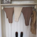 "Meryl Streep's wardrobe from the film ""Out of Africa"" on display."