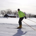X=-country skiing on Kingdom Trails at the Wildflower Inn