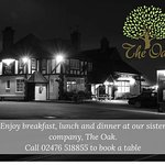 Breakfast, lunch and dinner available at our sister business The Oak, just down the road