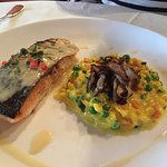 Salmon and risotto