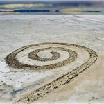 The 'Spiral Jetty' at Great Salt Lake, Utah