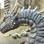 See the dragon at Caernarfon Castle