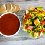 Pick Two: Tomato Basil Bisque + Half Garden Chop.