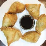 Delicious Samosas with Tamarind Sauce = MUST HAVE