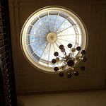 "Gorgeous ""skylight"" above the grand staircase"