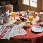 Une vue du petit-déjeuner