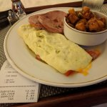 Room service: omelette breakfast