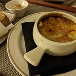 Room service: French onion soup