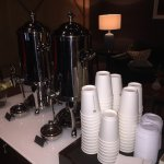 complimentary coffee every morning