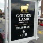 The Golden Lamb Restaurant Sign
