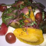 Heirloom tomato salad - yum!