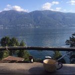 View from our terrace on Lago Maggiore