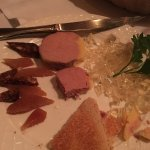 Who eats aspic anymore? Room temperature pate would have helped make this palatable.