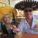 Trying out the sombreros and cocktails.