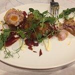 Boar and quail scotch eggs