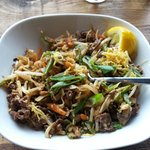 Outstanding Singapore beef stir fry