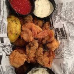 Fried shrimp and oyster
