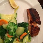 Blackened salmon with grilled vegetables