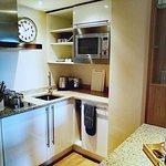 Deluxe Studio Suite kitchen area