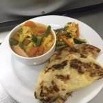 Roti Paratha and Curry Veg