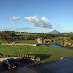 That's the view from out bedroom window to Croagh Patrick mountain.
